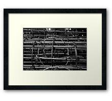 CONSTRUCTION - Iron Framed Print