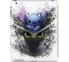 Baby Toothless Dragon and Stitch iPad Case/Skin
