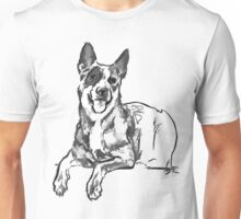 Blue Heeler Drawing Unisex T-Shirt