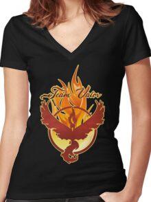 TEAM VALOR - POKEMON GO Women's Fitted V-Neck T-Shirt