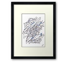 0307 - Blue Fragments in the Great White Framed Print