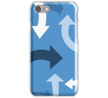 arrows (blue) iPhone Case/Skin