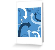 arrows (blue) Greeting Card