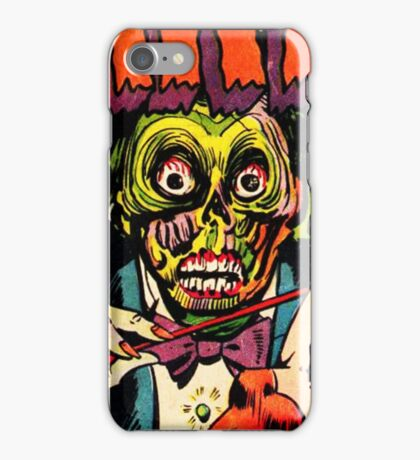 Horrific Tales Zombie Conductor Comic Cover iPhone Case/Skin