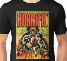 Horrific Tales Zombie Conductor Comic Cover Unisex T-Shirt