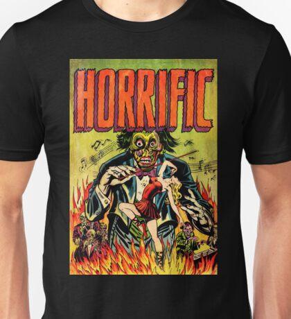 Horrific Tales Zombie Conductor Comic Cover Unisex T-Shirt