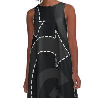 arrows (black) A-Line Dress