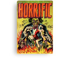 Horrific Tales Zombie Conductor Comic Cover Canvas Print