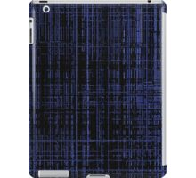 Line Art Dark Blue Matrix iPad Case/Skin