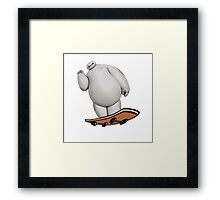Baymax Greeted With Skateboard Framed Print