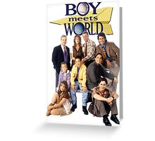 Boy Meets World Cast Greeting Card