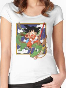 Goku and Shenron - Dragon Ball Women's Fitted Scoop T-Shirt