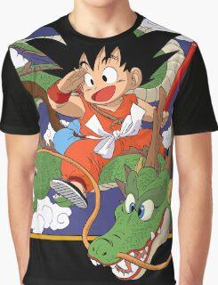 Goku and Shenron - Dragon Ball Graphic T-Shirt