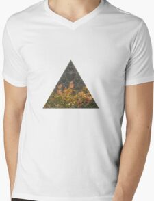 Summer Sierpinski Triangle Mens V-Neck T-Shirt