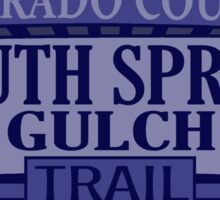 South Spring Gulch Colorado offroad Jeep trail Sticker