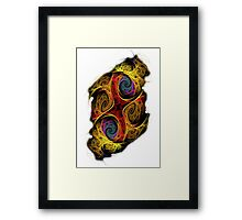 Double Or Too Many - Red Framed Print
