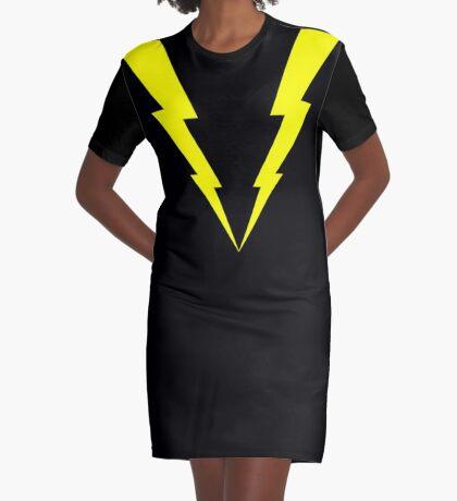 Lightning V Graphic T-Shirt Dress