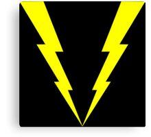 Lightning V Canvas Print
