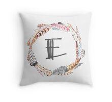 Feather Monogram E Throw Pillow