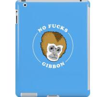 No Fucks Gibbon T-Shirt iPad Case/Skin