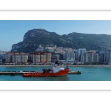Panorama of Gibraltar from the Sea Sticker