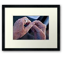 Silver Touch Framed Print