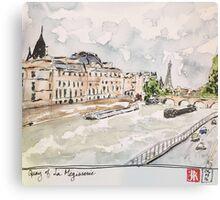 Paris Seine River Canvas Print