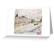 Paris Seine River Greeting Card