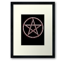 WICCA, Witch, Wizard, Pentacle, modern Pagan, Witchcraft, religion. on BLACK Framed Print