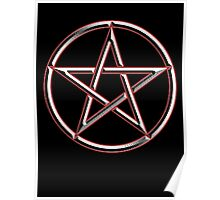 WICCA, Witch, Wizard, Pentacle, modern Pagan, Witchcraft, religion. on BLACK Poster