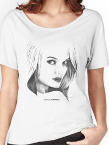 Natalie Portman Illustration Women's Relaxed Fit T-Shirt