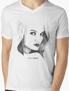 Natalie Portman Illustration Mens V-Neck T-Shirt