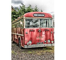 The old red bus Photographic Print