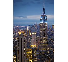 Empire State Blue Night Photographic Print