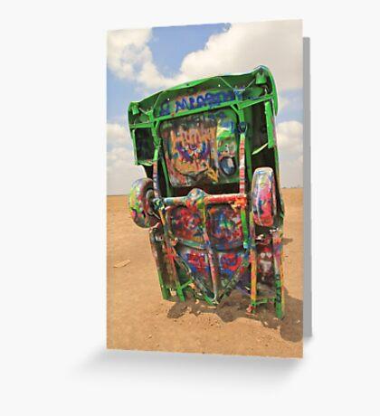 Graffiti Cadillac Greeting Card