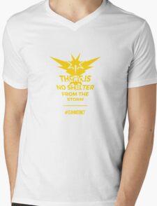 Team Instinct Pokemon Go Motto Mens V-Neck T-Shirt