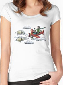 Sky Journey Women's Fitted Scoop T-Shirt