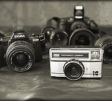 Camera's- from past to present by GinasFineArt