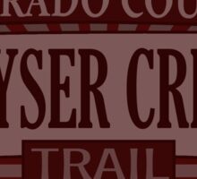 Keyser Creek Colorado offroad Jeep trail Sticker