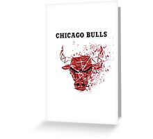 Chicago Bulls With Splatter Effect Greeting Card