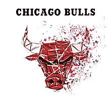Chicago Bulls With Splatter Effect Photographic Print
