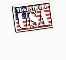 AMERICAN, Stars and Stripes, Made in the USA, Flag, Manufactured in America, US, USA, American Unisex T-Shirt