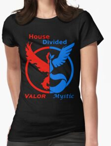 House Divided Valor vs. Mystic Womens Fitted T-Shirt