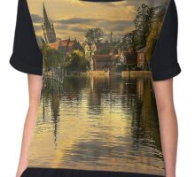 The Thames At Marlow In Late Afternoon Chiffon Top