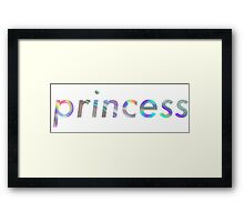 Princess Aesthetic Framed Print
