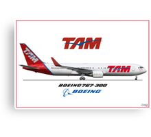 Airlines Collection Boeing 767-300 TAM Canvas Print