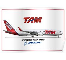 Airlines Collection Boeing 767-300 TAM Poster