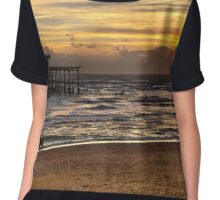 Sunset Over The West Pier Brighton Chiffon Top