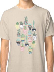 Cute Cacti in Pots Classic T-Shirt