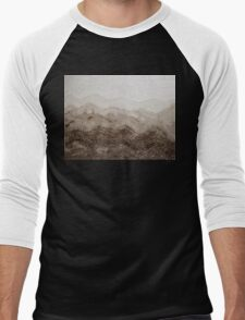 Desert Mountain Mist original painting Men's Baseball ¾ T-Shirt